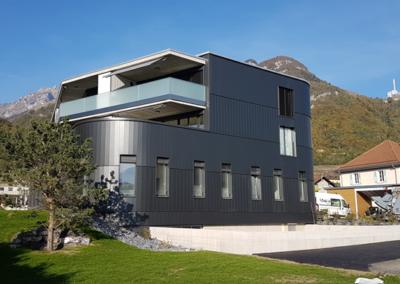Vouvry – Construction Agence Raiffeisen et logements